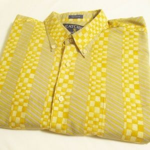 CATCHIT Authentic Vintage 90s Mens Casual Shirt XL